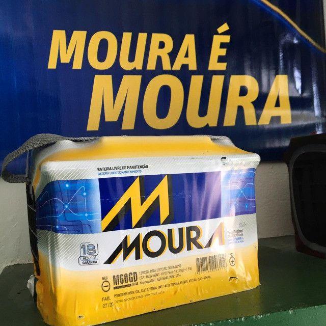 Bateria Moura 60amp 2 anos de garantia * - Foto 2