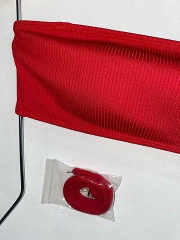 Top Canelado Vermelho - Foto 2