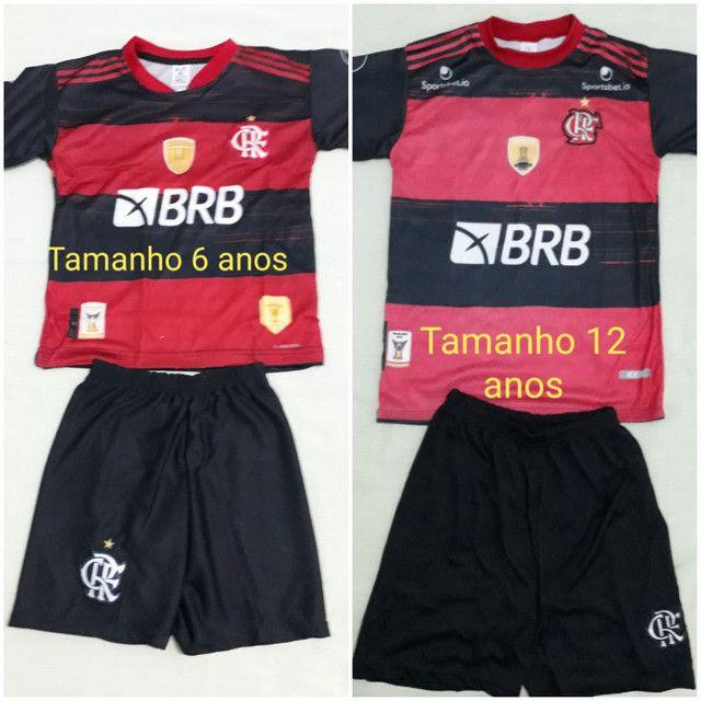 Camisa Flamengo infantil 6 e 12anos