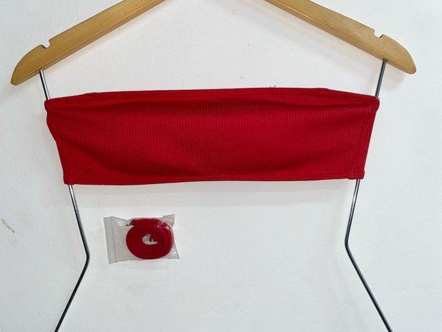 Top Canelado Vermelho