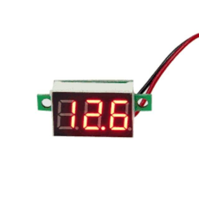 Mini Voltímetro Digital 4,5 V ~ 30 V Não Precisa Bateria!