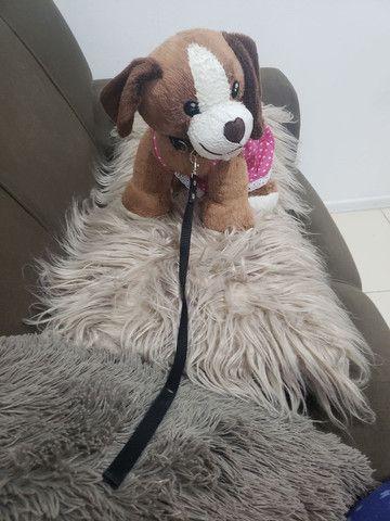 cachorro pelúcia com coleira - Foto 3