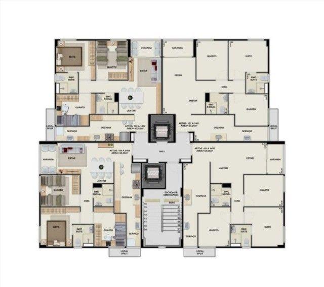 M&M- Lindo apartamento de 03 quartos no Barro - José Rufino - Edf. Alameda Park - Foto 8