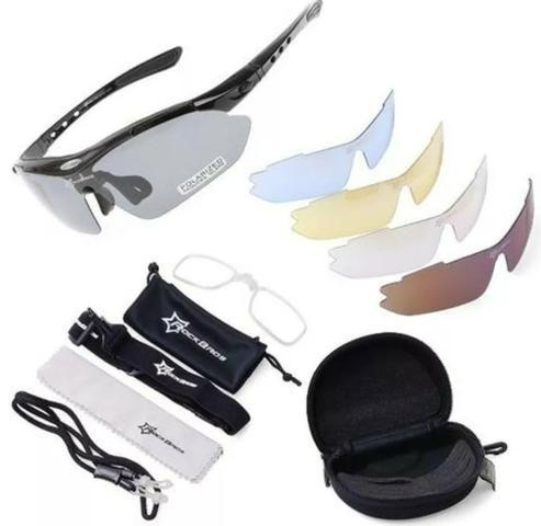 Kit óculos ciclismo rockbros com 5 lentes sendo 1 polarizada ... 300f90b6a9