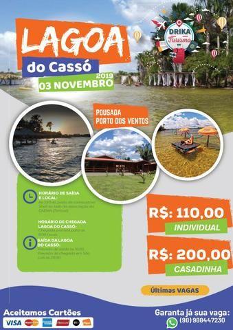 Passeio - Viagem Lagoa do Cassó, Santo Amaro, Belágua, Cachoeira do Arruda