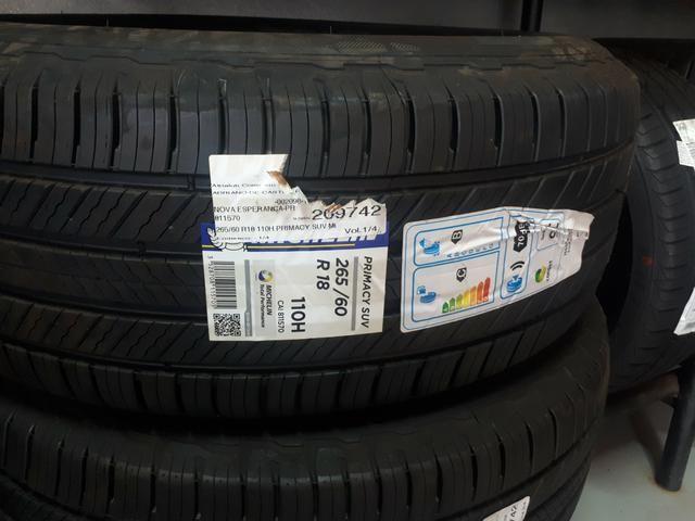 Vendo 04 pneus 265/60 R 18 Michelin Primacy SUV novos sem uso