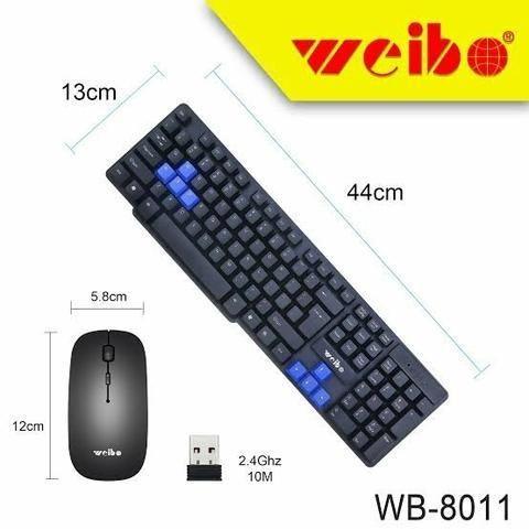 Combo Teclado e Mouse Sem Fio Weibo WB-8011 - Foto 4