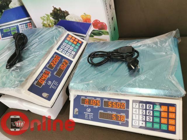Balança comercial 40kg profissional com cálculo de preço tara e outros