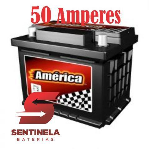 Bateria de Carro America 50 Amperes - 15 Meses de Garantia - Atendimentos 24 Horas