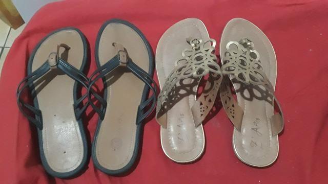 Duas sandalias rasteiras por 25 reais - Foto 2