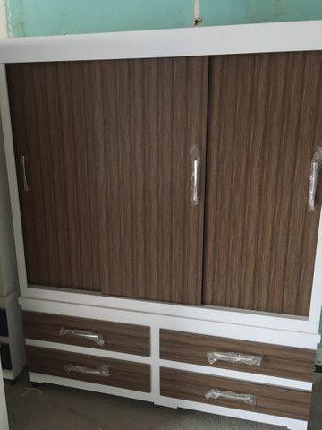Guarda roupa 3 portas corrediça de madeira