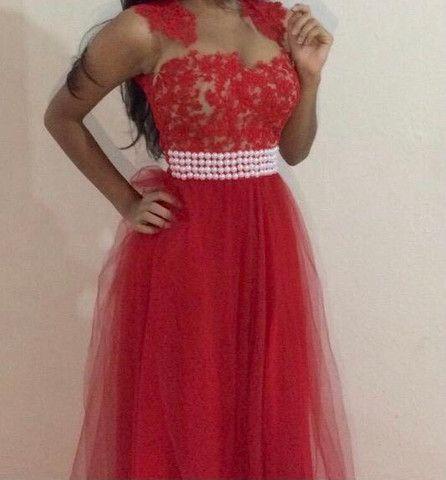 Vestido de Festa Vermelho - Foto 5
