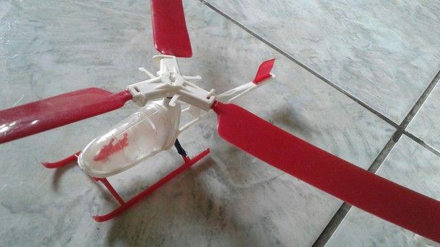 antigo helicóptero hering rasti modelo hr 007 na caixa -leia - Foto 4