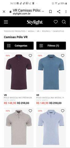 Camisa polo marca VR e polo original - Foto 3