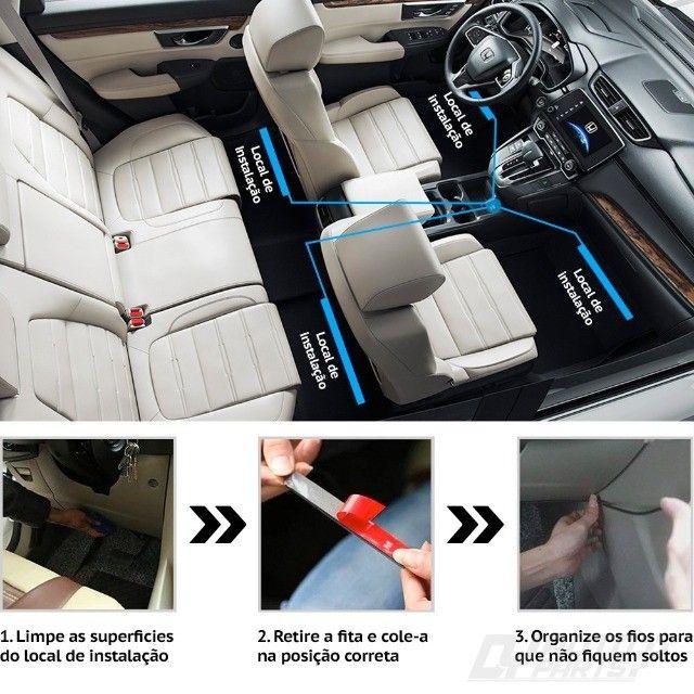"""""""Voltamos Loja já aberta"""" Personalize o interior do seu veículo - Rgb 7 Cores Com Controle - Foto 15"""