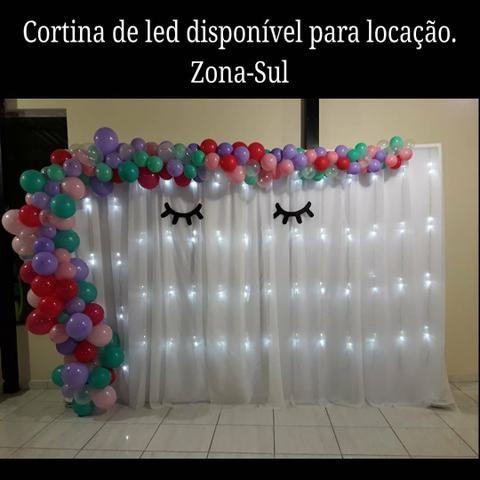 Aluguel cortina de led 3×2m zona-sul