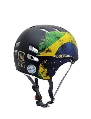Capacete Kraft bike Brasil G skate, bike e patins