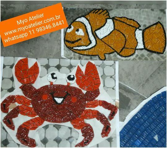 Nemo, caranguejo, mosaico