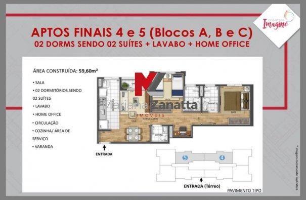 Residencial Imagine - Apartamento em Lançamentos no bairro Lagoa Seca - Santa Bá... - Foto 11