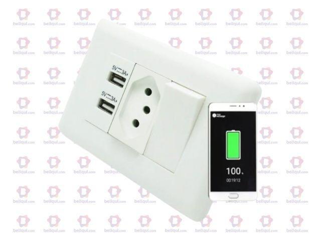 Tomada USB Carregador Celular - Foto 2