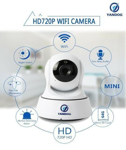 Câmera De Segurança Ip Yandog HD 720p Sem Fio Wifi