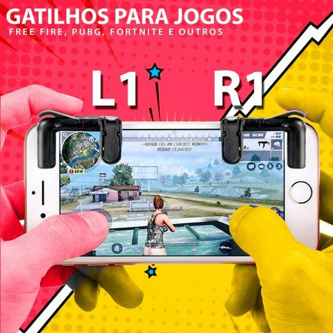 Gatilho Celular Free Fire Pubg L1 + R1 Mira Jogos - Foto 6