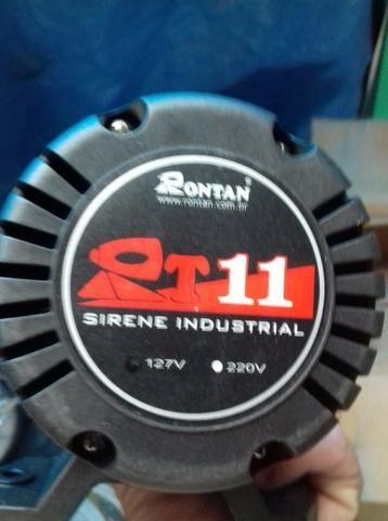 Sirene Elétrica Industrial RT11 127V Rontam Preta, (Nova) A/C Oferta !!!