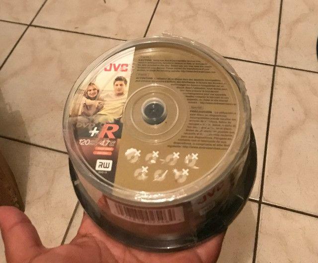 Dvd+r rw lacrado, com 30 unidades