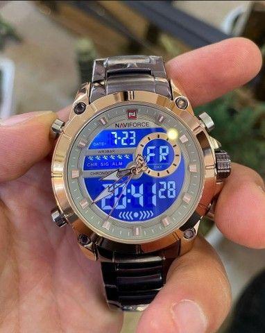 Relógio másculo casual Naviforce - NOVO (100% Funcional) - Foto 4