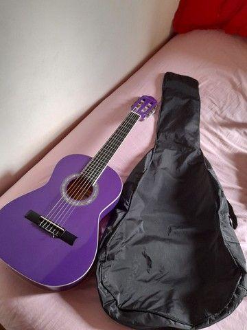 Violão giannini-cor roxa nunca usado - Foto 2