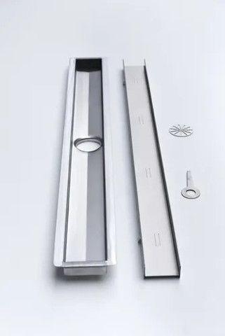 Ralo Oculto Linear- 50cm x 6cm- Aço Inoxidável  - Foto 2