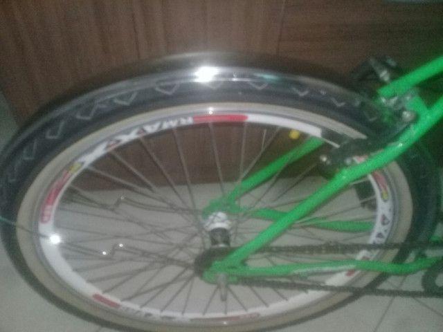 Bicicleta peças novas montei mais precisarei vender pouco usada , em perfeito estado! - Foto 2