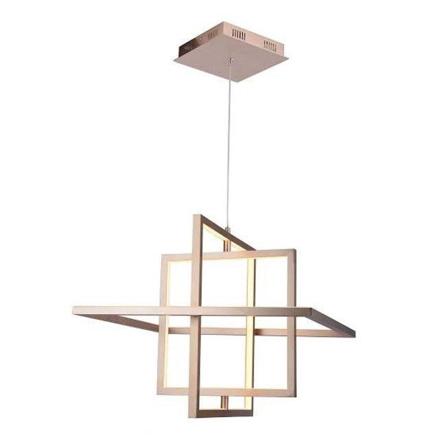 Pendente LED Quality Square Bivolt Dourado