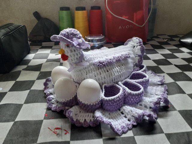 Porta ovos de crochê