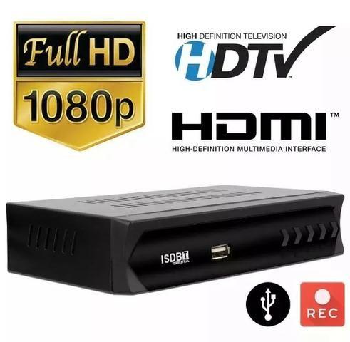 (NOVO) Receptor Tv Digital Multimídia Com Gravador Set Top
