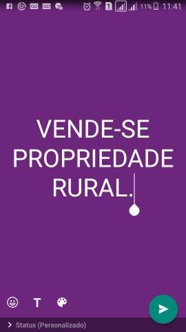 Vendo Propriedade Rural (aceito carro como parte pagamto)