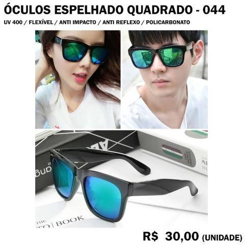 Óculos Espelhado Azul Esverdeado Quadrado