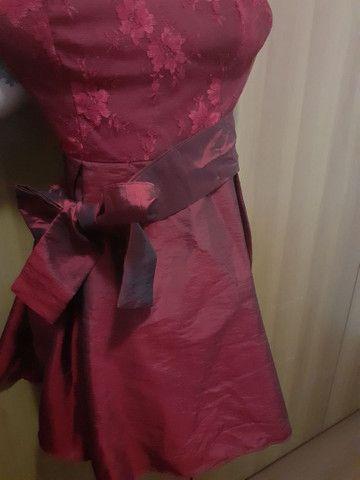 Vestido de festa rodado com tule preto por baixo (Novo) - Foto 3