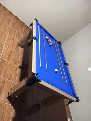 Mesa Tentação Redinha Cor Cerejeira Tecido Azul Mod. JFBH1830 - Foto 3