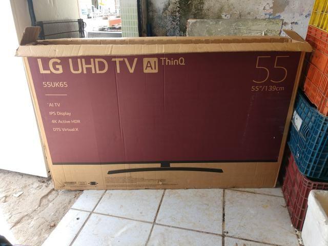 Vendo tv 55 polegadas tela trincada - Foto 2