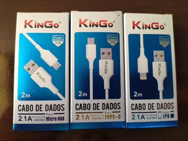 Kingo 2 metros cabo carregador Tipo C - Iphone - Micro USB v8