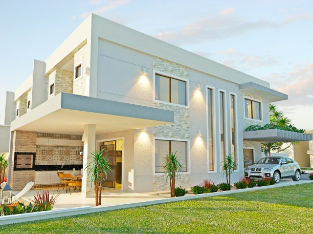 Vendo casa alto padrão em rua privativa no Eusébio. 180 m² com 4 suítes - Foto 2