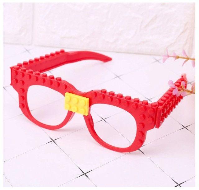 Óculos Lego + Pecinhas De Brinde Bloco De Montar Educativo - Foto 5
