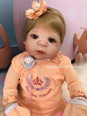 Bebê Reborn Viviane Silicone Pronto Envio! Com Enxoval - Foto 4