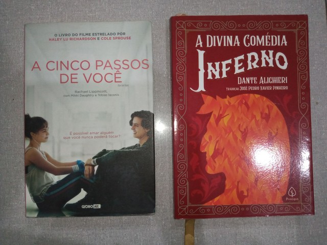 """""""A Cinco passos de você"""" e """"Inferno de Dante"""""""