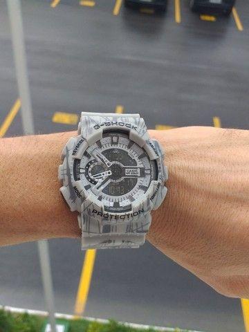 Relógio G-Shock Ga110 Cinza fundo preto Automático digital ponteiro a prova d'agua - Foto 4