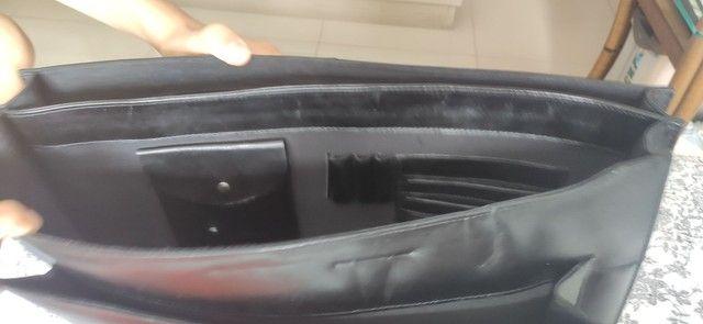 Bolsa masculina de couro - Foto 4