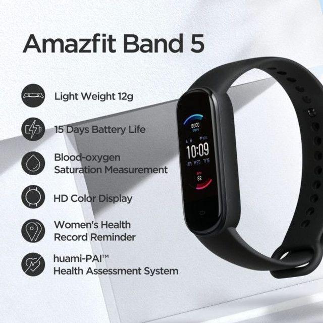 Relógio Amazfit Band 5 Com Alexa Global - A pronta Entrega Imediato - Foto 4