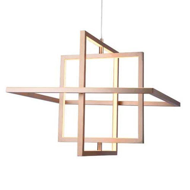 Pendente LED Quality Square Bivolt Dourado - Foto 2