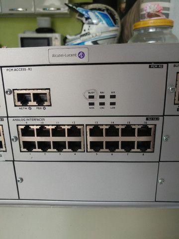 Central Omnipcx Office Com Módulos Alcatel Telefone - Foto 3